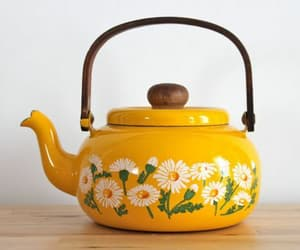 yellow, flowers, and tea image