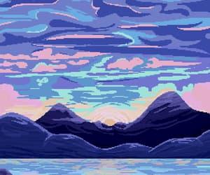 artsy, artwork, and landscape image