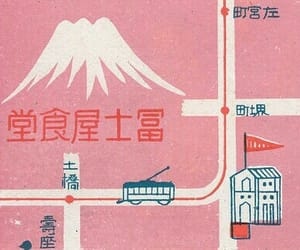 japan, map, and pink image