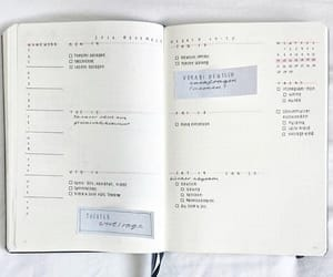 diary, planner, and bullet journal image
