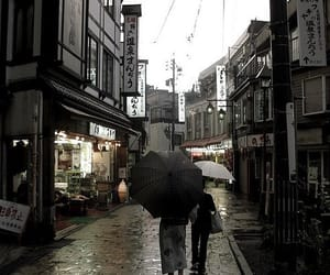 japan, city, and rain image