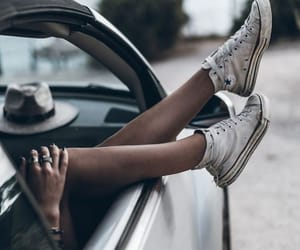 converse, car, and shoes image