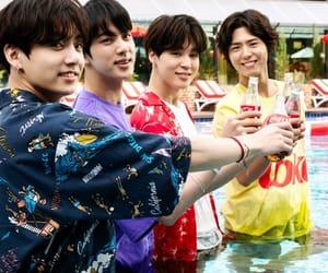 coca-cola, 방탄소년단, and 박보검 image