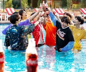 coca-cola, v, and 방탄소년단 image