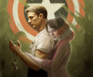 captain america, peggy carter, and couple image