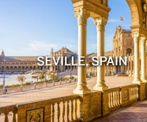 city, travel, and seville image