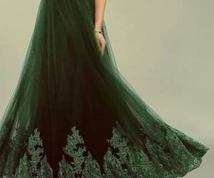 dress, green, and slytherin image