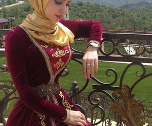 beauty, hijab, and traditional image