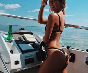 bikini, summer, and boat image