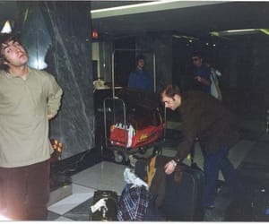 liam gallagher, paul arthurs, and oasis image