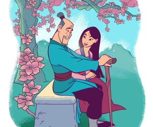 disney, mulan, and father image