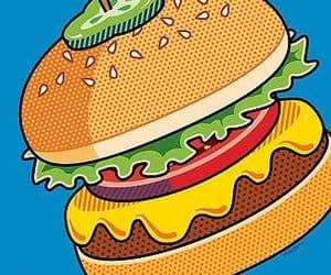 burger and pop art image