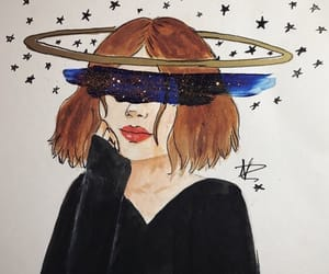 art, black, and moon image