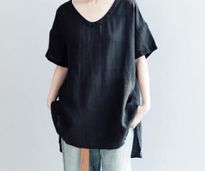 black shirt, summer top, and etsy image