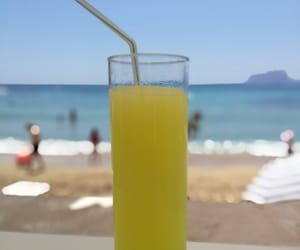 beach, drinks, and spain image