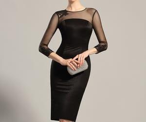 black dress, fashion, and edressit image