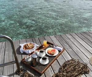 beautiful, breakfast, and ocean image