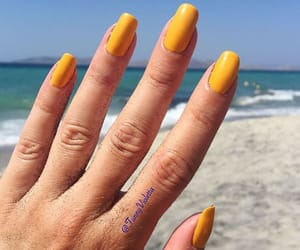 beach, fingers, and nails image