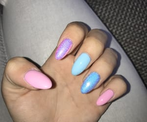 blue, pinky, and nails image