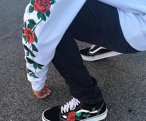rose, vans, and style image