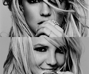 britney spears and black and white image