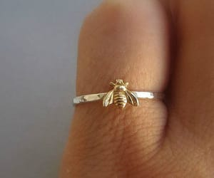 ring, bee, and gold image