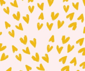 hearts, wallpaper, and yellow image