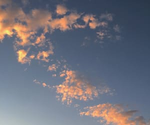 cloud, orange, and sky image