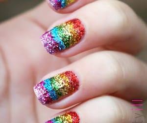 nails and rainbow image
