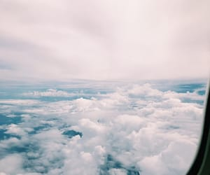 airplane, clouds, and view image