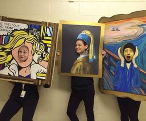 edvard munch, pop art, and vermeer image