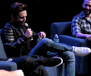 chris evans, gif, and sebastian stan image