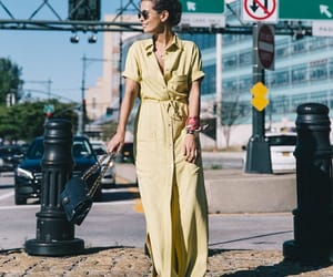 shirt dress, street style, and summer image