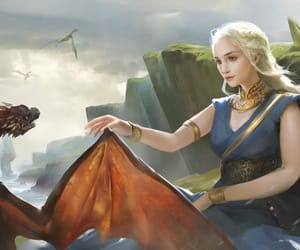 game of thrones, daenerys targaryen, and drogon image