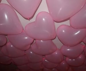 balloons, pink balloons, and pink image