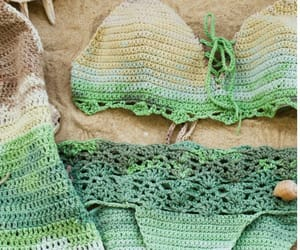 beach wear, green, and summer image
