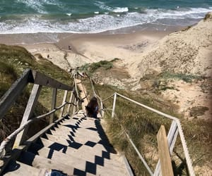 beach, denmark, and stairs image