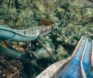 abandoned, park, and water image