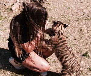 animals, zoo, and brunette image