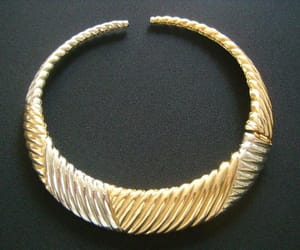 etsy, geometric jewelry, and gold collar necklace image