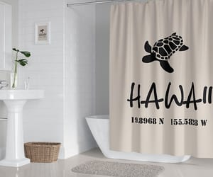 etsy, shower curtain, and surfer decor image