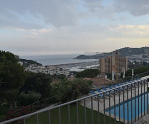 pool, sea, and spanien image