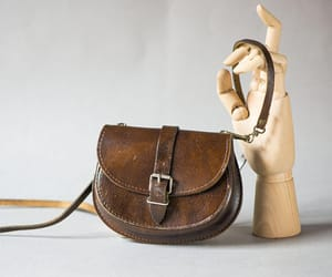 genuine leather bag, iphone bag vintage, and etsy image