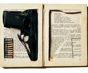 gun, book, and hide image