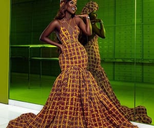 African, outfit, and print image