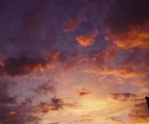 afterglow, clouds, and inspiration image