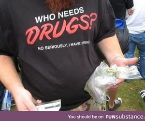 drugs, funny, and weed image