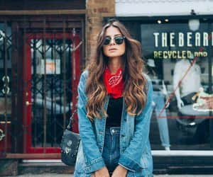 denim, scarves, and fashion image