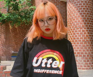korean, orange, and ulzzang image