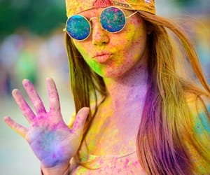 color, holi, and party image